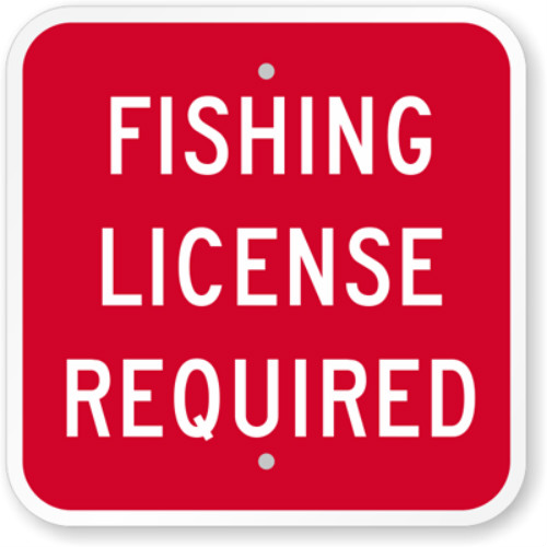Fishing License Required Sign meitu 2