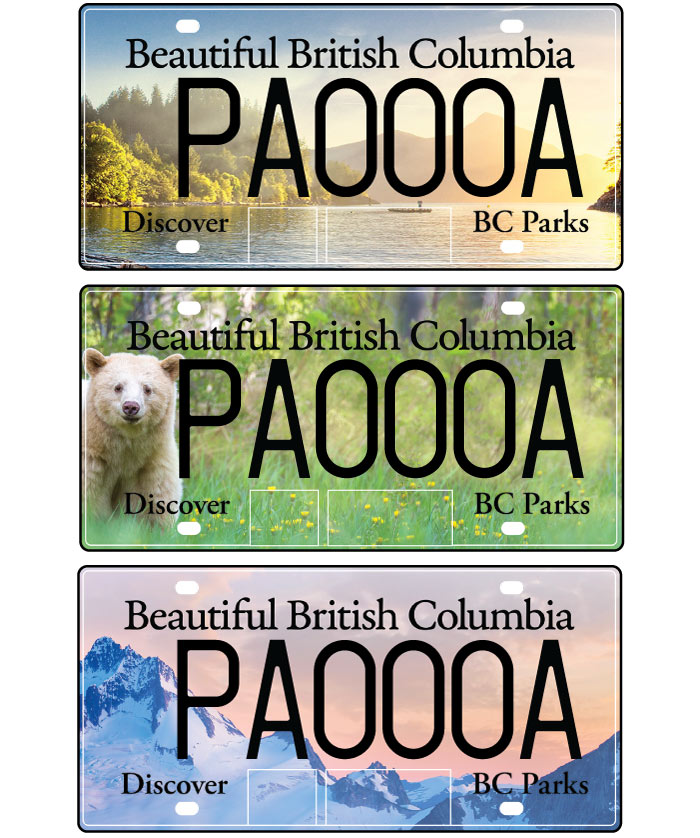 bc parks license plates