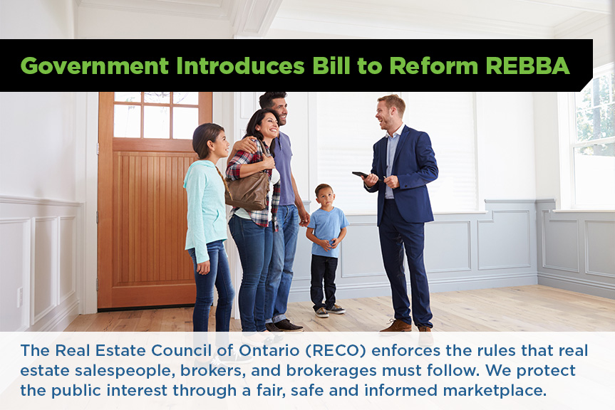 Bill to reform REBBA